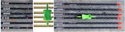 5 MM FULL METAL JACKET PRO MATCH GRADE SHAFTS w/ HIT BRASS INSERTS CUT FREE - Carbon Match