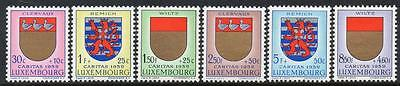 LUXEMBOURG MNH 1959 SG662-667 NATIONAL WELFARE FUND - ARMS