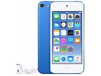 iPod Touch 6th Generation 16gb Blue USED with remaining apple care warranty