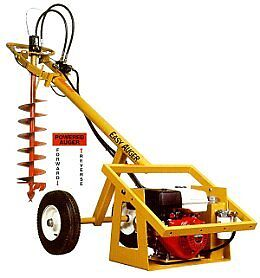 Post Hole Auger 1 Man Hydraulic Towable Auger Rental Deck Fence
