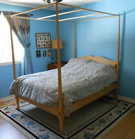Solid Maple 4-Poster Double Bed