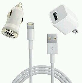 Iphone 5 Wall and Car Charger 8 pin Lightning  USB Cable  iPod 5 HIGH QUALITY!