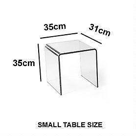 Incroyable Square Glass Side Table