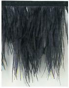 Black Feather Trim