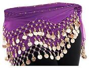 Belly Dance Hip Scarf Purple