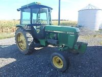 John Deere 2350 Tractor with Cab- 15.5-38 rears- 2047 hours
