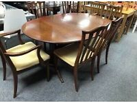 G plan vintage dining table for 6