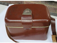 Vintage 1960 Camera Gadget Case Bag with leather strap. Made in Holland