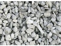 Decorative Aggregates - Limestone Grey Chippings (25kg Bags)