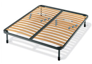 Iso of double bed frame with slats in good condition