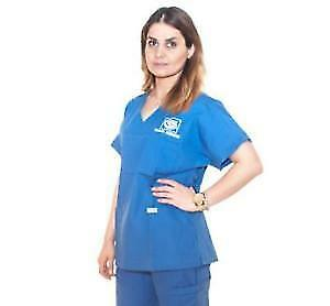 George Brown College Royal Blue Dental Hygiene Scrubs