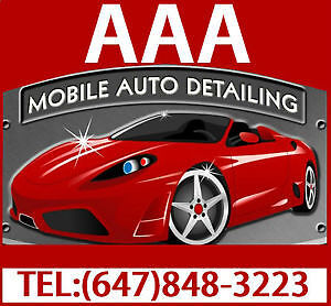 CAR DETAILING SPECIAL WE COME TO YOU 50 % OFF