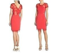 Bcbg red lace dress- NEW