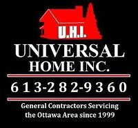 Free Estimates! Home & Business Renos Since 1999! 613-282-9360