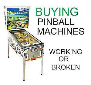 OLD PINBALL MACHINES WANTED BY COLLECTOR