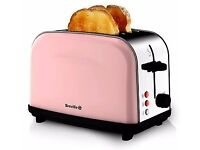 "Breville Toaster (2 slice) in ""Strawberry and cream"" - Brand new - still in packaging."
