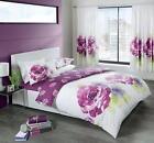 Purple White Curtains