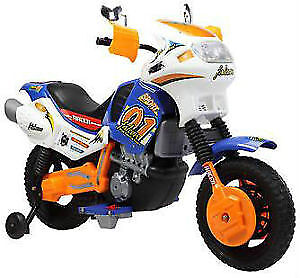 12V Kid / Child Ride On Toy Motorcycle with Training Wheels more
