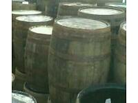 Recycled oak whisky barrels