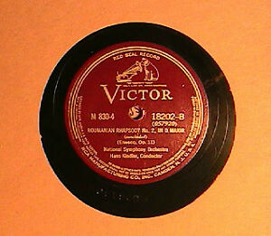 Normal vinyl records 78RPM relatively good condition.