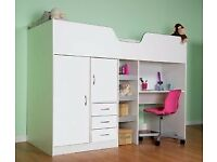 Bourne high sleeper by more flat pack