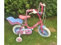 "GIRLS RALEIGH SUNBEAM ""FAIRY CAKE"" BICYCLE - PINK & BLUE"