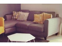 DFS Grey Chaise Corner Sofa