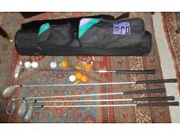 Ladies Golf Clubs with Bag - All in good condition - hardly used - £25.00 ono