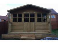 Garden Shed, Super Heavy Duty Tanalised Wood, custom built, Apex, Pent sheds, Workshops, Dutch Barns
