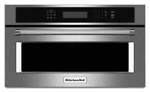 Micro-onde encastrable KitchenAid 30'', convection, Stainless