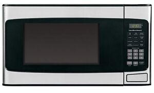 Brand New in Box 1.1 cb Stainless Steel Microwave