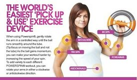 Power spin! Toned arms!