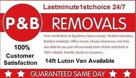 14ft Luton man n van don't delay call today same day jobs work till late from £20