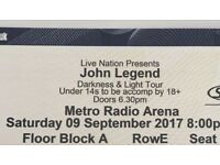 John legend x2 ticket face value
