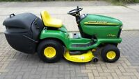 "John Deer LTR 166 rear bagging 42"" deck lawn mower"