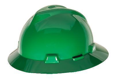 Msa Safety 475370 V Gard Green Protective Hat W  Fas Trac Suspension