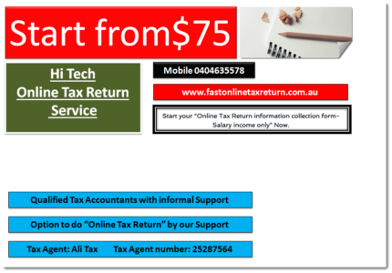 Face to Face and Online Tax Return Service