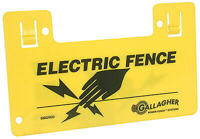 Electric Fence Warning Sign Clip-on - Pack Of 10