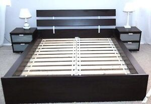 IKEA: Double Bed with mattress & Lamp