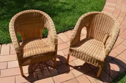 Two Ikea (AGEN) Children's Wicker Chairs