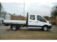 2018 68 FORD TRANSIT 2.0 350 EURO 6 L4 DOUBLE CAB DROPSIDE DRW 129 BHP DIESEL