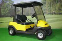 Custom Yellow Paint Electric Golf Cart