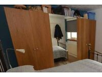 3 PAX Double Wardrobes with internal fittings.