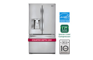 LG Stainless Steel French Door Counter Depth Refrigerator