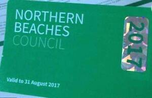 Northern Beaches Council parking permit sticker Curl Curl Manly Area Preview