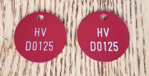 Custom Engraved Anodized Aluminum Valve Tags