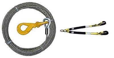 Exotic Car V Strap & 4-38PS75LH F/C winch cable 3/8 x 75 self locking swivel hk