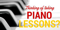 Piano Lessons Available - NO TRAVEL NEEDED!