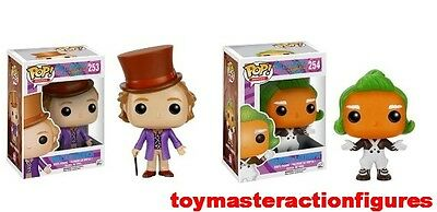 FUNKO POP MOVIES WILLY WONKA #253 & THE OOMPA LOOMPA #254 Vinyl Figures IN STOCK - Willy Wonka Stock