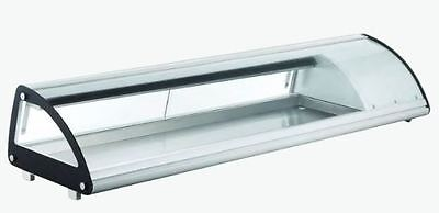 Omcan Rs-cn-0103-sc 69 Refrigerated Curved Glass Sushi Display Case Brand New